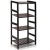 FNCJ-33012 Pine Solid Wood 4-Tier Storage, Espresso