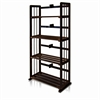 Pine Solid Wood 4-Tier Bookshelf, Espresso