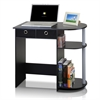 Go Green Home Laptop Notebook Computer Desk/Table, Black/Grey/Black