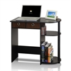 Go Green Home Laptop Notebook Computer Desk/Table, Espresso/Black/Brown