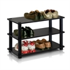 Turn-S-Tube 3-Tier Shoe Rack, Espresso/Black