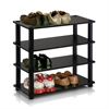 Turn-S-Tube 4-Tier Shoe Rack, Espresso/Black