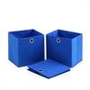 Laci  Foldable Storage Organizer with Round Ring Handle, Set of 3, Blue