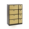 Econ Storage Organizer Cabinet w/Bins, Espresso/Light Brown