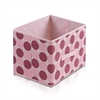 Laci  Dot Design Non-Woven Fabric Soft Storage Organizer, Pink