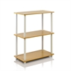 Turn-N-Tube 3-Tier Compact Multipurpose Shelf Display Rack, Beech