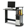 Compact Computer Desk, Black/Grey