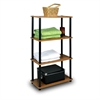 Turn-N-Tube 4-Tier Multipurpose Shelf Display Rack, Light Cherry/Black