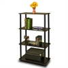Turn-N-Tube 4-Tier Multipurpose Shelf Display Rack, Espresso/Black