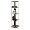 Turn-N-Tube 5-Tier Corner Square Rack Display Shelf, Light Cherry/Black