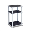 11087 Just 3-Tier No Tools Tube End Table, White w/White Tube