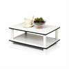 11172 Just 2-Tier No Tools Coffee Table, White w/White Tube
