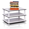 11173 Just 3-Tier No Tools Coffee Table, White w/White Tube