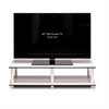 Just No Tools Wide TV Stand, White Finish w/White Tube