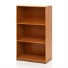 Basic 3-Tier Bookcase Storage Shelves, Light Cherry