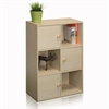 Pasir 3 Tier Shelf w/3 Door/Round Handle, Steam Beech