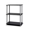 Turn-N-Tube 3-Tier Compact Multipurpose Shelf Display Rack, Black/Grey