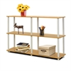 Turn-N-Tube 3-Tier Double Size Storage Display Rack, Beech/White