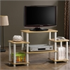 Turn-N-Tube No Tools Entertainment Center, Beech/White