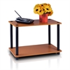 Turn-N-Tube 2-Tier No Tools Tube Shelf/End Table, Light Cherry/Black