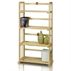 Pine Solid Wood 4-Tier Bookshelf, Natural