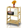 Pine Solid Wood 3 Tier Shelf, Natural