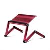 A6-Pink Ergonomics Aluminum Vented AdJustable Multi-functional Laptop Desk Portable Bed Tray