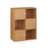 Pasir 3-Tier Shelf w/3 Door/Round Handle, Light Cherry