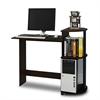 Compact Computer Desk, Espresso/Black