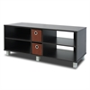 TV Entertainment Center with 2 Bin Drawers, Espresso/Brown
