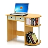 Go Green Home Laptop Notebook Computer Desk/Table, Beech/Ivory/White