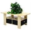 Coffee Table w/Bin Drawer, Steam Beech/Black