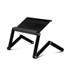 A6-Black Ergonomics Aluminum Vented AdJustable Multi-functional Laptop Desk Portable Bed Tray