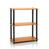 Turn-N-Tube 3-Tier Compact Multipurpose Shelf Display Rack, Light Cherry