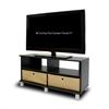 Entertainment Center w/2 Bin Drawers, Espresso/Brown