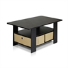Coffee Table w/Bin Drawer, Espresso/Brown