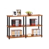 Turn-N-Tube 3-Tier Double Size Storage Display Rack, Light Cherry/Black