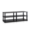 TST No Tools 3-Tier Wide Shoe Storage Rack, Espresso/Black
