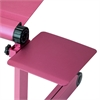 Mousepad Attachable to Aluminum Folding Laptop Notebook Tray Stand, Pink (Lapdesk is not included)