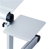 Mousepad Attachable to Aluminum Folding Laptop Notebook Tray Stand, Silver (Lapdesk is not included)