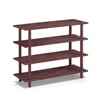 Pine Solid Wood 4-Tier Shoe Rack, Espresso