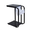 B&W U-Storage Side Table, Black