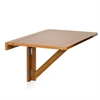 Wall-Mounted Drop-Leaf Folding Table, Cherry