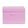 Non-Woven Fabric Soft Storage Organizer with Lid, Pink
