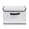 Non-Woven Fabric Soft Storage Organizer with Lid, Beige