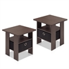 Petite End Table Bedroom Night Stand, Set of Two