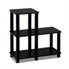 Turn-N-Tube Accent Decorative Shelf, Espresso/Black
