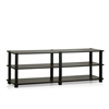 Turn-S-Tube No Tools 3-Tier Entertainment TV Stands, Dark Brown/Black