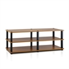 Turn-S-Tube No Tools 3-Tier Entertainment TV Stands, Light Cherry/Black
