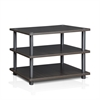 Turn-N-Tube Easy Assembly 3-Tier Corner TV Stand, Espresso